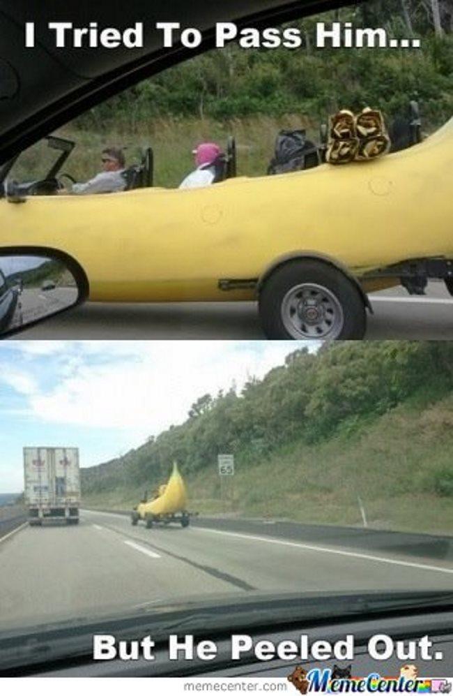 Funny car memes Banana car