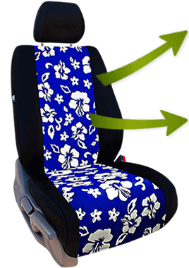 hawaiian seat covers floral seat covers for a tropical. Black Bedroom Furniture Sets. Home Design Ideas