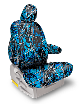 Undertow 174 Blue Camo Seat Covers Black And Blue Seat Covers