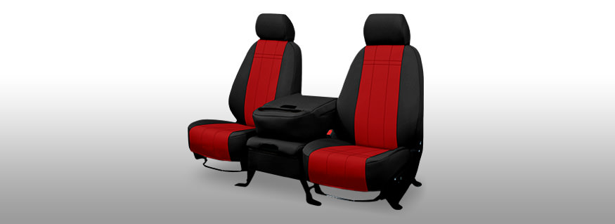 Red Neoprene Seat Covers