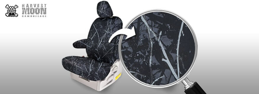 Harvest Moon Camo 174 Seat Covers Black And Grey Seat Covers