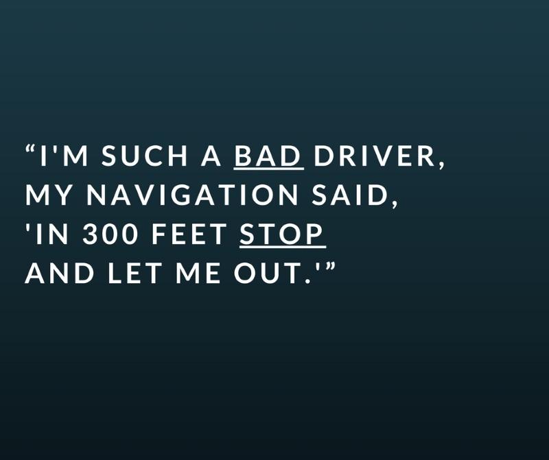bad driver car joke