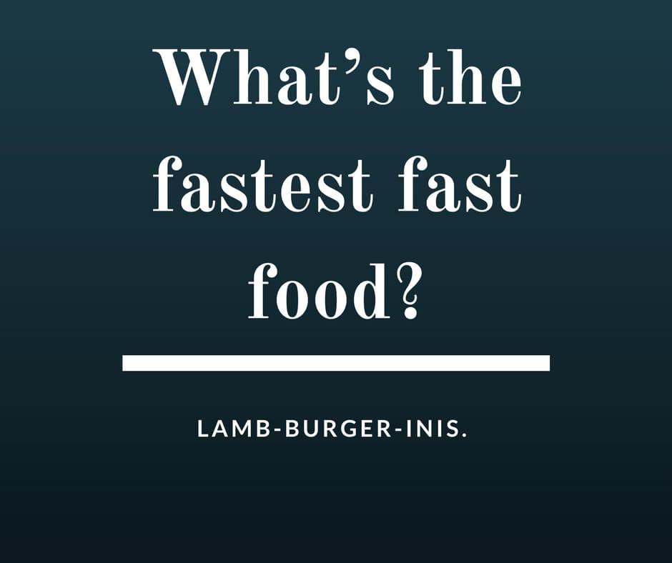 fast food jokes