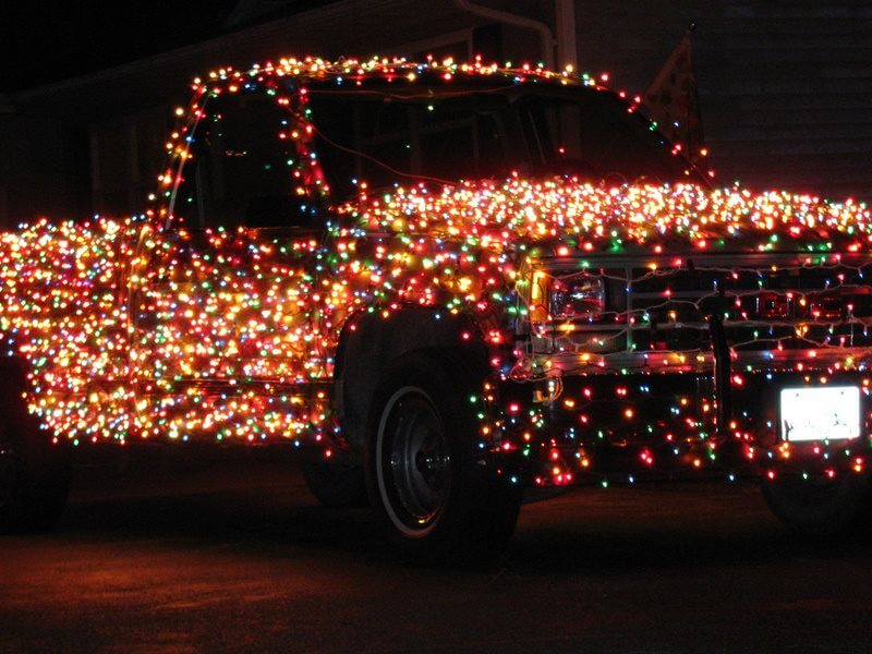 Holiday Christmas Lights on Ford Truck