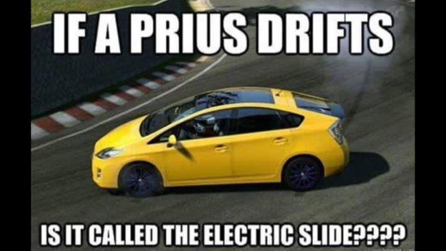 Why Prius' are good dancers car meme
