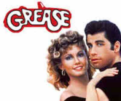 Grease movie poster Danny and Sandy