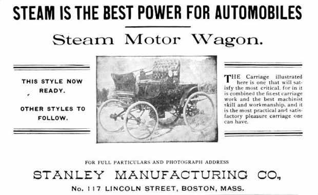 Stanley Steamer Print Ad
