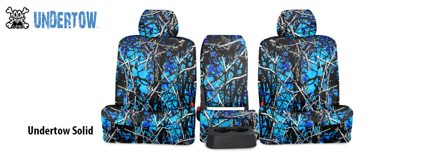 Undertow Blue Camo Seat Covers