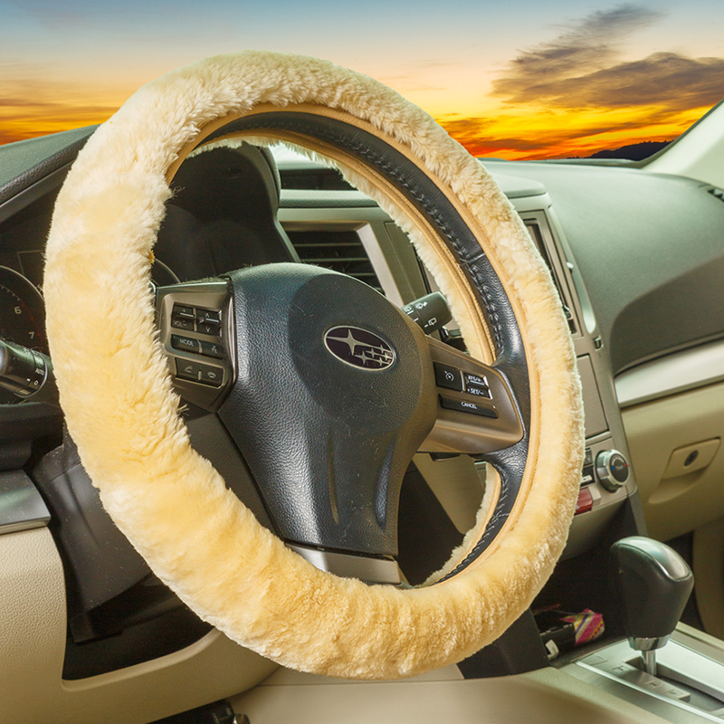Sheepskin Steering Wheel Cover to Customize Your Car