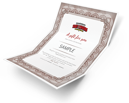 Seat Cover Gift Certificate