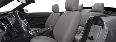 Gray Leather Seat Covers