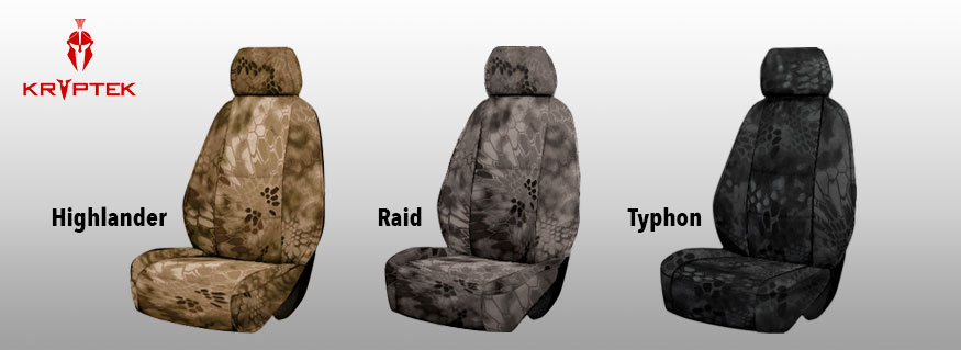 Kryptek Camo Tactical Seat Covers Custom Made Tactical