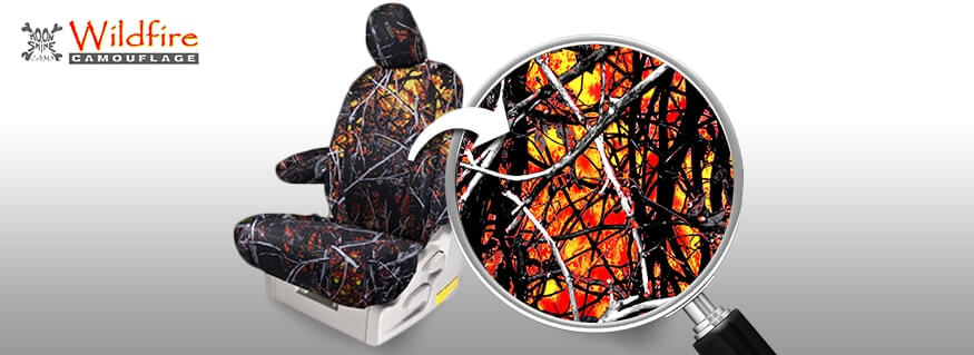 Camo Seat Covers in Moonshine Wildfire
